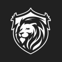 Lion in shield mascot vector