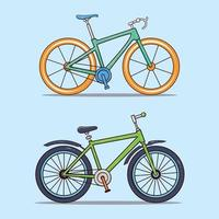 Set of two sports bicycles vector