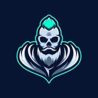 Skull sport or gaming mascot vector