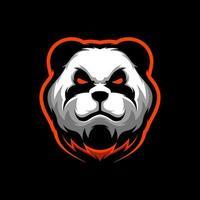 Angry panda mascot vector