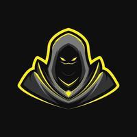 mascota guerrera asesina vector