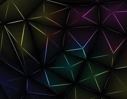Fondo de triángulo abstracto con gradación ligeramente diferente y color negro. vector