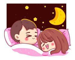Character couple asleep vector