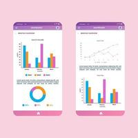 Mobile infographic elements data visualization vector design template