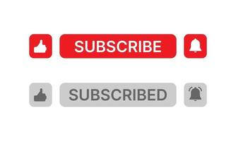 Social media button like, subscribe and notification on white background. vector