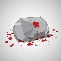piedra con sangre o apedreado ejecutado vector