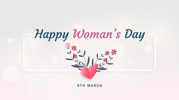 Background template for International Women's Day. Greeting card 8 March holiday template