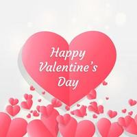 Happy valentine's day abstract bokeh light background vector