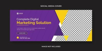 Corporate and digital business marketing promotion social media cover vector