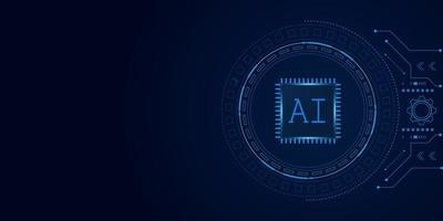 Artificial Intelligence futuristic Technology Concept, AI chipset vector