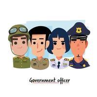 conjunto de oficiales del gobierno vector