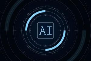 Artificial Intelligence futuristic Technology Concept vector