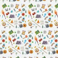 conjunto de patrones de camping vector