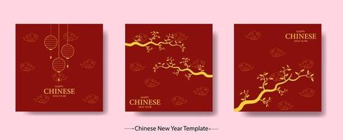 Happy Chinese New Year Template Bundle vector