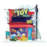 Toy shop store vector