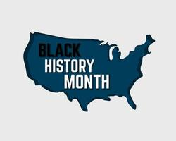 Black History Month Background Vector