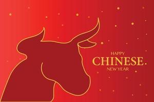 feliz año nuevo chino 2021 fondo de buey