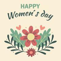 fondo floral del día de la mujer vector