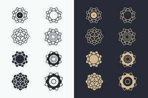Ornament template set vector