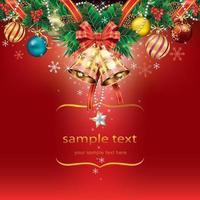 Fondo de plantilla de decoración de tarjeta de Navidad. ilustración vectorial. vector