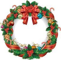 Christmas wreath. Vector Illustration.