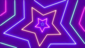 estilo de fiesta de patrón de estrella láser colorido abstracto
