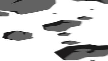 detriti di pietra in movimento animazione con canale alfa