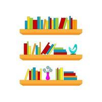 Book shelves vector