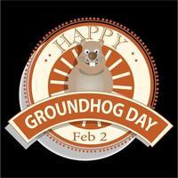 National Groundhog Day Sign vector
