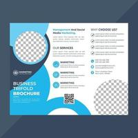 plantilla de folleto tríptico de negocios corporativos vector