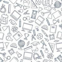 School education seamless pattern vector