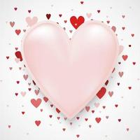 Valentine's day concept with hearts on with copy space can put your text on. Use for greeting card or banner template as design. vector