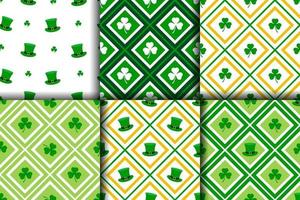 Collection of St.Patrick's day seamless patterns vector