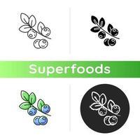 icono de arándanos orgánicos