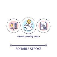 Gender diversity policy concept icon