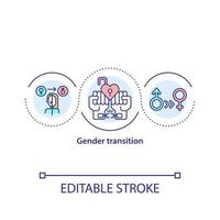 Gender transition concept icon