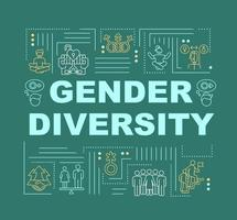 Gender diversity in society word concepts banner