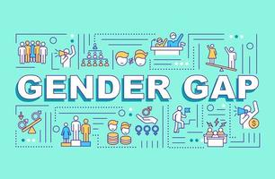 banner de conceptos de palabra de brecha de género