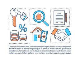 Icono de concepto de documento de obligación hipotecaria con texto