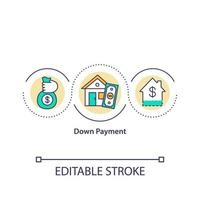 Down payment concept icon vector