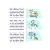Renewable power resources concept icon with text vector