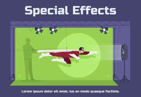 Special effects social poster template vector