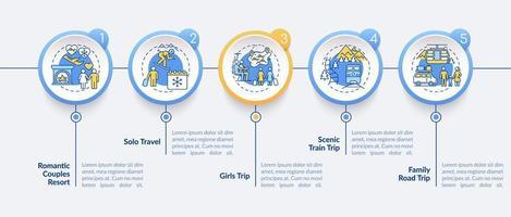 Plantilla de infografía de vector de ideas de vacaciones de invierno