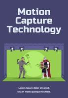 Motion capture technology social poster template vector