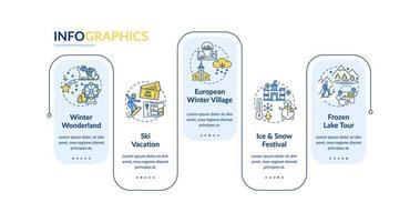 plantilla de infografía de vector de escape de invierno