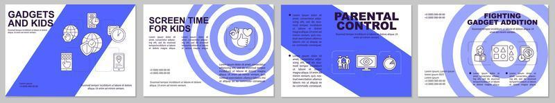 Parental control brochure template vector