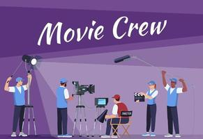 Movie crew social poster template vector