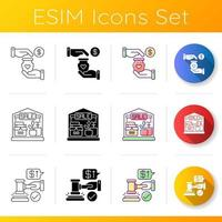 conjunto de iconos de comercio