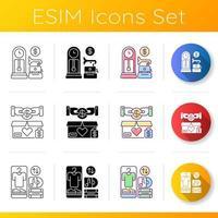 conjunto de iconos de venta