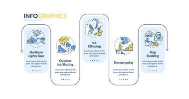 Plantilla de infografía vectorial de actividades deportivas de invierno